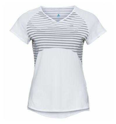 Ceramicool Base layer Odlo (white - Placed Print Ss20) Women's t-shirt