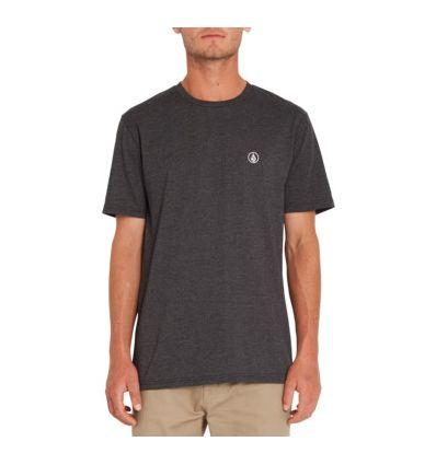 Tee-shirt Volcom Circle Blanks (Heather Black) homme