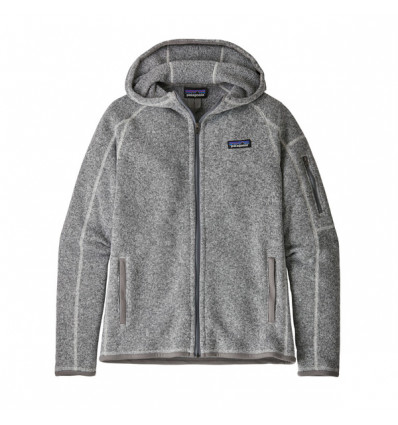 Polaire à capuche Patagonia Better Sweater (Birch White) femme