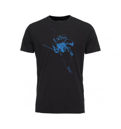 Tee-shirt Black Diamond Faceshot (Black-Bluebird) Homme