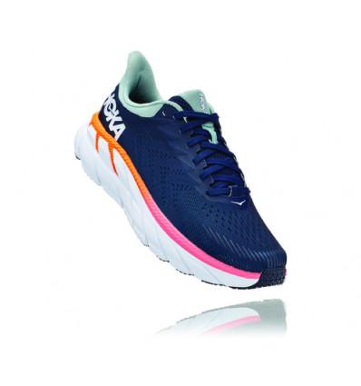 Chaussure de running Hoka One One Clifton 7 (BLACK IRIS / BLUE HAZE) Femme