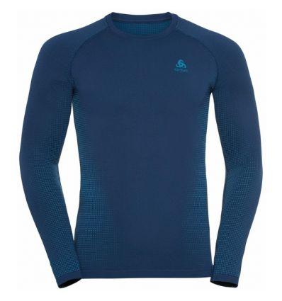 Tee-shirt technique à manches longues ODLO PERFORMANCE WARM ECO (estate Blue - Atomic Blue) Homme