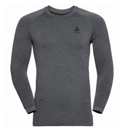 Tee-shirt technique à manches longues ODLO PERFORMANCE WARM ECO (grey Melange - Noir) Homme