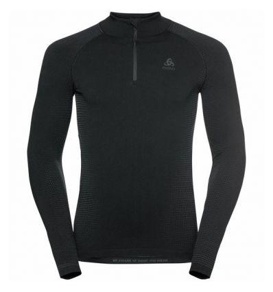 Tee-shirt technique à col montant ½ zip ODLO PERFORMANCE WARM ECO (black - New Odlo Graphite Grey) Homme