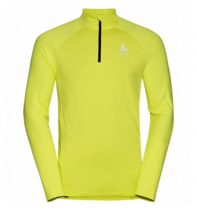 Sweater 1/2 Zip running Odlo Zeroweight Ceramiwarm ( limeade) man