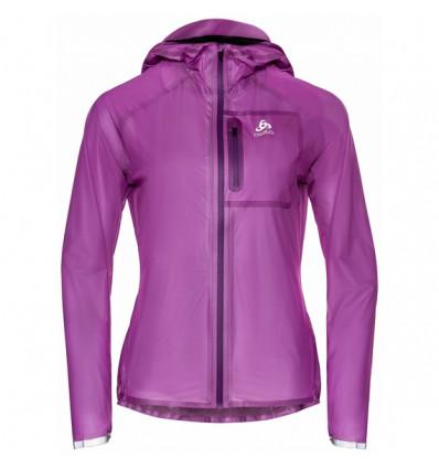 Odlo Zeroweight Dual Dry Waterproof Running Jacket (Hyacinth Violet) woman