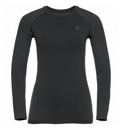 T-shirt manches longues Odlo Performance Warm ECO (black - odlo graphite grey) femme