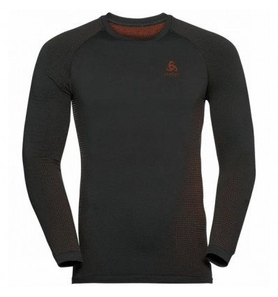 Tee-shirt technique à manches longues ODLO PERFORMANCE WARM ECO (black - orange.com) Homme