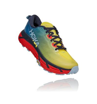 Chaussure de trail Hoka One One Mafate Speed 3 (PROVINCIAL BLUE / FIESTA) Homme