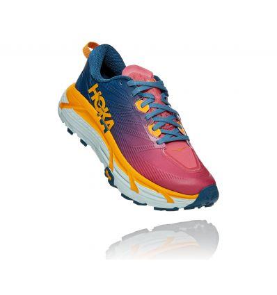 Chaussure de trail Hoka One One Mafate Speed 3 (Moroccan Blue/Saffron) Femme