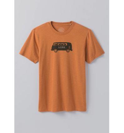T-shirt PrAna Will Travel Journeyman (Russet Heather) homme