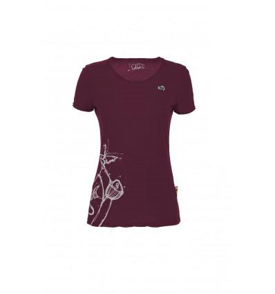 Women's E9 Reve (Magenta) climbing t-shirt
