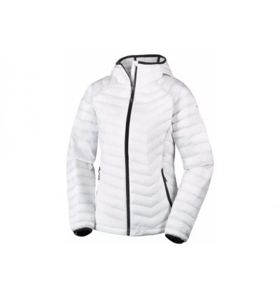 Doudoune Columbia Powder Lite Hooded Jacket (white, Black) femme