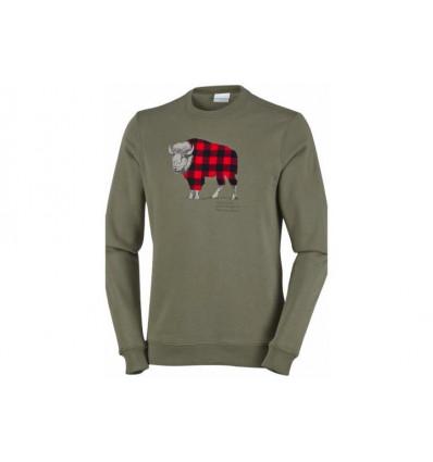 Sweat-shirt Columbia Csc Check The Buffalo (peatmoss)