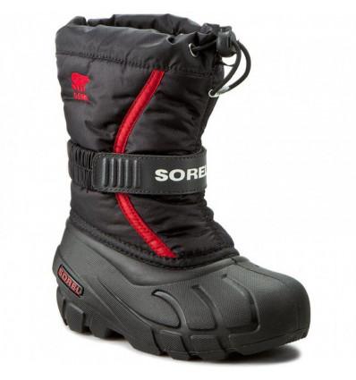 APrès ski enfant Sorel Flurry (Noir, Rouge vif)