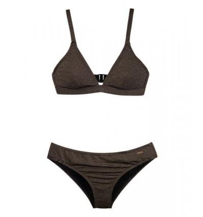 Protest SECRET triangle bikini - Couleur : True Black