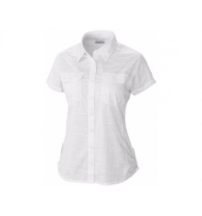 Chemise Manches Courtes Columbia Camp Henry Femme (white)