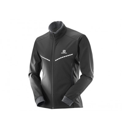Veste Equipe Tr Jkt M Homme - Salomon (Black/forged Iron)