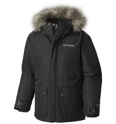 Veste d'hiver Columbia Snowfield Jacket (Black heather) enfant